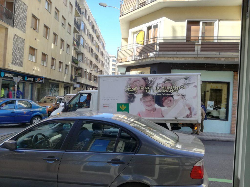 Camión banco de alimentos de salamanca
