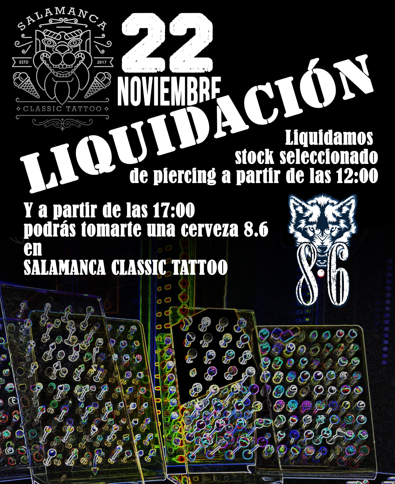 Liquidación Stock Piercings